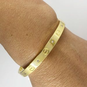 Gold plated Screw bangle bracelet